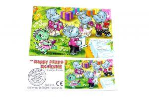 Happy Hippo Hochzeit Puzzle mit Beipackzettel (unten links)