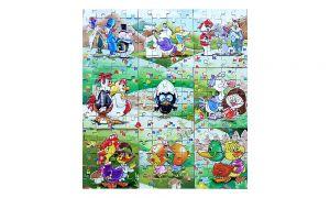 Calimero Superpuzzle von Ricard Italien. 9 Puzzle ecken und 9 Beipackzettel