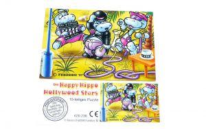 Happy Hippo Hollywood Stars Puzzleecke unten rechts mit Beipackzettel