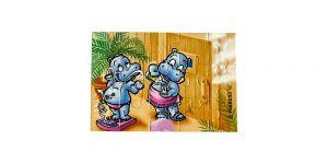 Puzzleecke der Happy Hippos im Fitness Fieber oben rechts