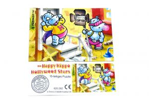 Happy Hippo Hollywood Puzzlecke oben links mit Beipackzettel