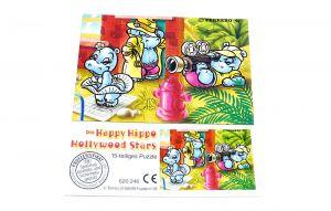 Happy Hippo Hollywood Stars Puzzleecke oben rechts mit Beipackzettel