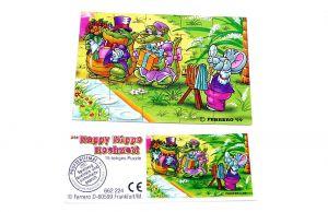 Happy Hippo Hochzeit Puzzle mit Beipackzettel (unten rechts)