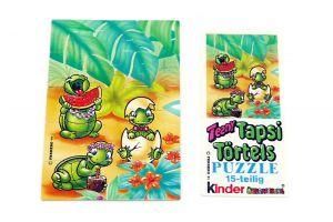 Puzzleecke von Teeny Tapsi Törtels mit Beipackzettel (Ecke oben links, 15 Teile)