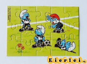 Puzzlecke unten links von den Fußballschlümpfen (Puzzle)