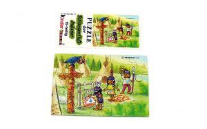 Schlangenfluss-Indianer, Puzzleecke oben links mit Beipackzettel