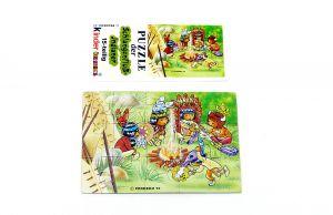 Schlangenfluss - Indianer, Puzzleecke mit Beipackzettel unten links