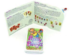 Quartett aus dem Maxi Ei der Pinky Piggys von 2002 und Beipackzettel