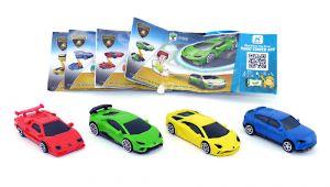 Vier Lamborghini Modellautos mit Beipackzettel Set [DV232 DV233 DV234 DV255]