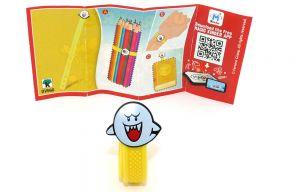 Super Mario Armband mit Boo als Motiv und Beipackzettel DV560