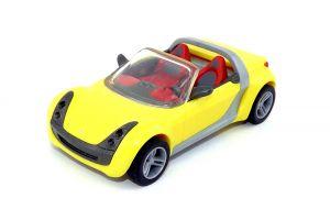 Roadster-Coupe in Gelb mit Rückziehmotor (Maxi Ei)