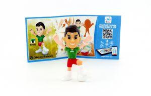 Christiano Ronaldo Figur mit Beipackzettel von den TEEN IDOLS (SD682)