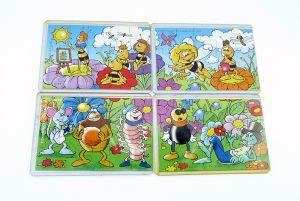 Biene Maje Puzzle mit allen 4 Beipackzetteln [Firma Rübezahl und Koch]