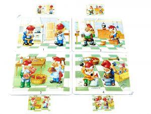 Superpuzzle von Zunft der Zwerge mit Stanzrahmen und Beipackzetteln