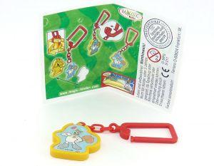 Schlüsselanhänger von Sandy mit Beipackzettel