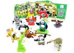 Satz Kung Fu Panda 3 mit allen 10 Figuren und Beipackzetteln