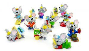 Mega Mäuse alle 10 Figuren der Serie (Komplettsätz)
