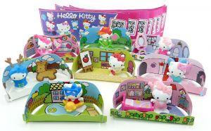 Komplettsatz Hello Kitty alle 8 Figuren und 8 neutrale Beipackzettel
