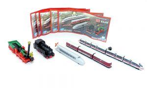Alle 5 WM Züge. ICE 3, Adler, Zeppelin und Dampflok (Satz Schnellzüge)