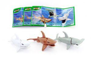 Satz Räuber der Meere, alle drei Haie (Komplettsätze)