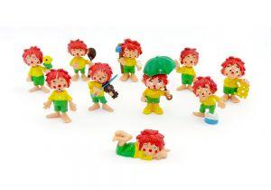 Der kleine Kobold Pumuckl, alle 10 Original Figuren der Serie
