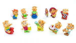 Die Pinky Piggys Figuren aus dem Jahr 2000 (Ü-Ei Komplettsatz)