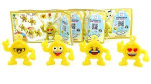 Satz Emoji Anhänger Nr. SE784 SE784A SE784B SE784C (4er Satz Smilys)