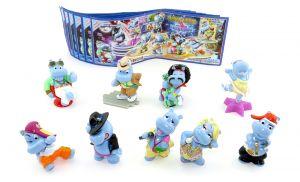 Die Happy Hippo Talent Show Figuren mit allen Beipackzetteln (Sätze Deutschland)
