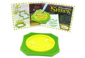 Schablone von Shrek (größe ca. 5cm x 5cm)