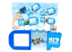 Schiebebild von Sid und Mammut mit Beipackzettel (ICE AGE 2)