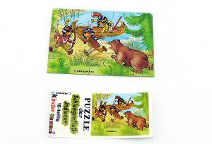 Schlangenfluss-Indianer, Puzzleecke mit Beipackzettel unten rechts