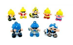 Satz Tagga Boys Figuren mit Beipackzettel [von der Firma Bauli]
