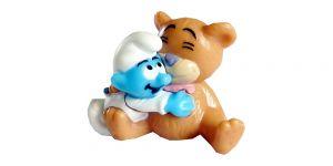 Baby Schlumpf mit riesen Teddy, ohne BPZ (Schlümpfe 2011)