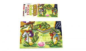 Puzzleecke von der Kroko Schule unten rechts mit Beipackzettel (15 Teile Puzzle)