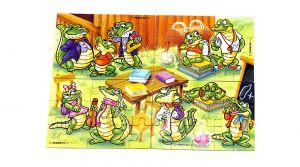 Alle 4 Puzzleecken ohne Beipackzettel von der Kroko Schule (SUPERPUZZLE)