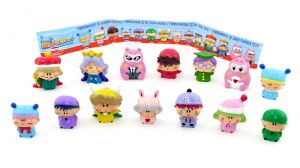 Mirmo Manga Figuren Set. Alle 14 Figuren der Serie und ein Beipackzettel