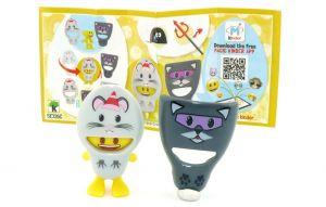 EmoJoy Doubleface  Katze - Maus mit Beipackzettel (SE326C)