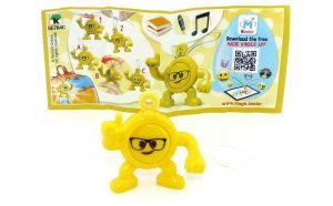 Emoji Anhänger Brille - Kopfhörer mit Beipackzettel (Kinderjoy Emojoy)