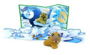 Robbenbaby von den Natoons Polarkinder Figuren (Einzelfigur mit Zettel und Rückwand)
