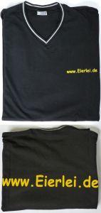 Eierlei T-Shirt in schwarz Größe L