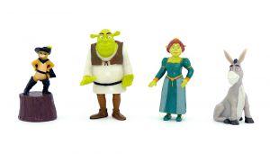 4 Shrek Figuren aus Gummi.  Fiona, Esel, Shrek und der Gestiefelte Kater [Firma blend-a-med]