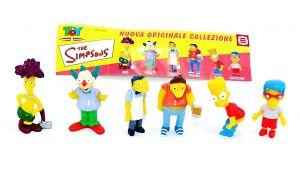 The Simpsons. Komplettsatz Simpsonsfiguren mit Beipackzettel von der Firma Dolcerie Veneziane