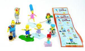 The Simpsons 8 Figuren aus Italien von 2010 mit Beipackzettel