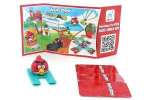 RED AUF SKIER mit Beipackzettel FF608 (Die Angry Birds)
