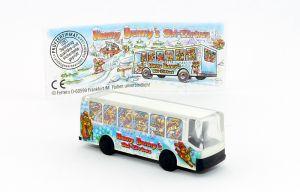 Tour Bus der Top Ten Teddies mit Beipackzettel