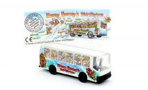 Tour Bus der der Hanny Bunnys mit Beipackzettel