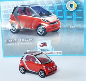 Smart Fortwo Coupe in rot mit Beipackzettel
