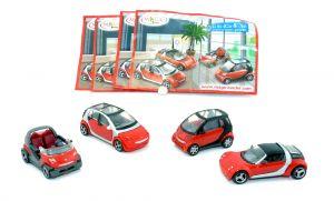 1 Satz smart Modelle in rot 2007 mit allen Beipackzetteln