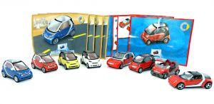Satz smart Modelle 2007 mit allen Beipackzetteln und 8 SMARTS - Maßstab 1:87