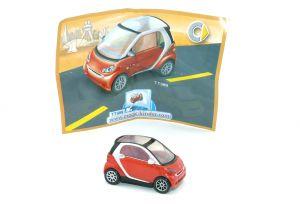 Smart in rot - silber von 2007 mit Beipackzettel TT089 (Autos)